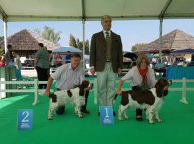 Die Siegerinnen von Karlovac mit Richter Dr. Jackel